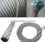 중국에서 고품질 철강선 밧줄 6*37