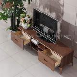 現代居間新しいデザインMDF上木TVのキャビネット
