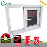 Втройне стекло закалило конструкции окна удара урагана UPVC/PVC