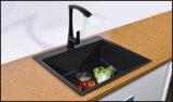 Le granit composé noir de cuisine coule le bassin