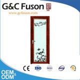 Деревянный цвет алюминиевый определяет прикрепленную на петлях дверь комнаты ливня