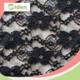Tessuto geometrico rotondo elastico del merletto di stirata del reticolo dello Spandex e del nylon