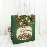Bolso de papel impreso decorativo del regalo de la Navidad en existencias