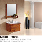 Mirrorの新しいWall Mounted Solid Wood Bathroom Vanity