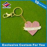 Porte-clés en métal à émail doux à la broderie promotionnelle avec super qualité