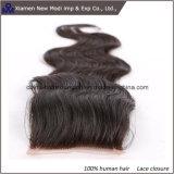 Chiusura brasiliana del merletto dei capelli dell'onda del corpo, chiusura svizzera del merletto dei capelli brasiliani