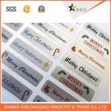 Afgedrukte Sticker van de Druk van het Etiket van de Stickers van het Document van Kerstmis de Zelfklevende Markering