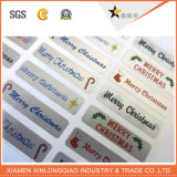 Kundenspezifische Weihnachtspapier-selbstklebende Aufkleber-Kennsatz-Drucken-Marke gedruckter Aufkleber