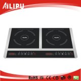 Вся зона Induction Cooker 4kw Crystal Plate Plastic Housing multi-Function Double