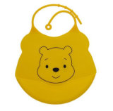Cute Food Grade Waterproof Big Pocket Soft Silicone Baby Bib