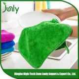 Tovaglioli di piatto assorbenti d'attaccatura moderni verdi della cucina di Microfiber