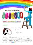Promotie LEIDEN van het Silicone van China Nieuwste Kleurrijke RubberHorloge (gelijkstroom-611)