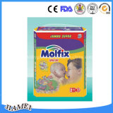 Hohe Absorption Molfix Baby-Windeln mit Fabrik in China