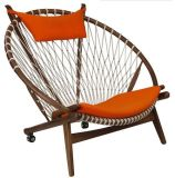 Cirlce 의자 단단한 나무 라운지용 의자 Hans Wegner 굴렁쇠 의자