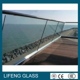 Vidrio laminado de cristal claro del vidrio Tempered para el pasamano
