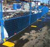 Barrière provisoire du Canada de sécurité d'enduit de PVC de qualité