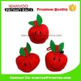 Förderndes Karton-Erdbeere-Form-Polyester-faltbare Verpackungs-Einkaufstasche