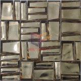 Tuile de mosaïque en verre titanique de couleur argentée (CSJ153)