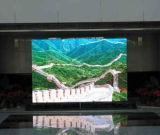 Les écrans de télévision énormes de HD DEL ont joué au lieu public ou le grand dos ou le studio