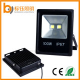100W 램프 85-265AC LED 플러드 빛 방수 옥외 빛 옥수수 속 9500lm는 할로겐 전구 동등한 램프 블랙 케이스 투광램프를 대체한다