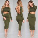 Женщин Bodycon части платья повязки Ами зеленые Backless 2