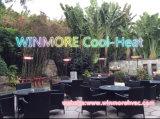 옥외 지역을%s 양산을%s 가진 상업적인 적외선 히이터 안뜰 히이터 전기 히이터