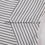 Frauen-Form-Kleid-Damen gesponnenes Kleid mit Streifen-Druck