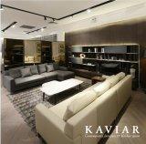 Cuoio del salone/sofà d'angolo del tessuto (serie DV700)