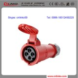 разъем 32A/3p+E/6h/380~415V/IP44 IEC60309 промышленный