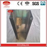 Fabricante de alumínio da parede de cortina do revestimento preto de PVDF (JH180)