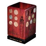 Caja de monedas giratoria del cartucho de la pluma