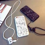 Caja clásica del teléfono móvil del acollador del modelo de la geometría para el iPhone