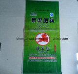 Saco plástico tecido PP do fertilizante do saco