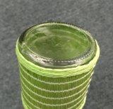 Bottiglia di olio di vetro rotonda con la bocca Pourer del metallo