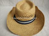 Sombrero del borde de Shapeable del sombrero de vaquero de la paja de la rafia