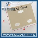 Tarjeta Textured de la visualización del pendiente de la cartulina (CMG-102)