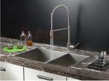 Bassin fabriqué à la main, bassin de cuisine, bassin d'acier inoxydable, bassin