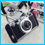 Caja del teléfono móvil del acollador del estilo de la cámara del silicón del camuflaje