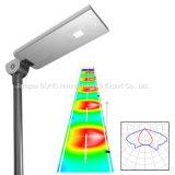 20W integró todos en una luz solar solar de la luz de calle LED