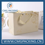 UV Printing (CMG-MAY-019)를 가진 호화스러운 Warm Beige Color Wedding Paper Bag