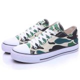 낮은 Top Comfortable Camouflage Color Flat Skateboard Canvas Shoes Men 또는 Women