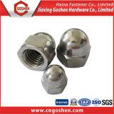 Porca de tampão Hex inoxidável da porca de tampão Ss304 do hexágono do aço DIN1587