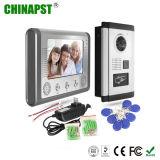 Telefone video da porta da casa de campo impermeável do intercomunicador do cartão da identificação de RFID (PST-VD701-ID)