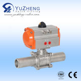 Steel inoxidable 2PC Pneumatic Ball Valve