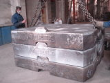 Bastidor del hierro gris del OEM, bastidor de arena, contrapeso de la grúa