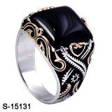 Nuovo anello dell'argento sterlina del commercio all'ingrosso della fabbrica di arrivo per l'uomo