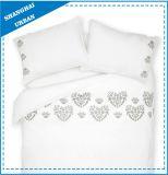 Blad van het Bed van Victoria het Witte Katoen Afgedrukte