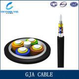 Cable de fibra óptica de Gja de la fuente de la fábrica trenzado con la fuerza Menber de FRP y la chaqueta del PE