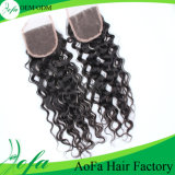 Extensão preta natural Mongolian do cabelo do anel do cabelo humano do Virgin micro