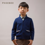 Vêtements 100% bleu-foncé d'enfants de coton pour des garçons